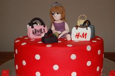 Shop-a-holic celebration Birthday cake by Lovemuffins by Clair