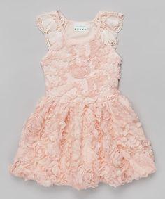 Love this Peach Rosette Bow Dress - Toddler & Girls on #zulily! #zulilyfinds