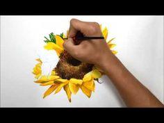 해바라기 기초디자인 개체표현 sunflower water color drawing - YouTube