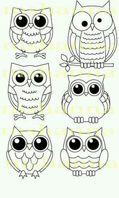 16 Trendy how to draw an owl fun - Eule Art Projects, Sewing Projects, Owl Crafts, Owl Patterns, Owl Art, Cute Owl, Digi Stamps, Pebble Art, Stone Art