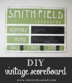 DIY Vintage Scoreboa