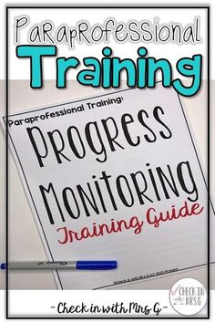 Paraprofessionals who are new to special education will benefit from this 30 minute paraprofessional training. This product comes with a workbook for paraprofessional attendees as well as a training manual for the Special Education Teacher delivering the professional development. Perfect for training new paraprofessionals, paraeducators, and special education instructional assistants. #paraprofessional #specialeducationresources Teaching Social Skills, Teaching Resources, Letter Identification, Preschool Special Education, Progress Monitoring, School Psychology, Speech And Language, Life Skills, Classroom Management