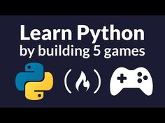 Learn Python in this full tutorial course for beginners. This course takes a project-based approach. We have collected five great Python game tutorials toget. Basic Computer Programming, Learn Computer Coding, Basic Programming, Computer Basics, Python Programming, Programming Languages, Machine Learning Projects, Machine Learning Deep Learning, Learning Methods