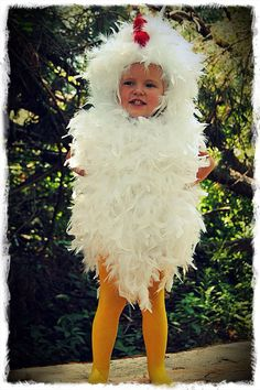 Chicken Costume Toddler Child Fluffy Feather. $75.00, via Etsy.  I could SO make this!