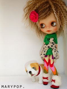 This reminds me of the reboot I'm working on for my Blythe custom.