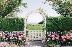 Nantucket garden with blooming pink roses, beat hedge and white picket fence. Nantucket Cottage, Nantucket Style, Nantucket Island, Coastal Style, Nantucket Beach, Garden Cottage, Rose Cottage, White Picket Fence, Home Landscaping
