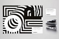 """New work from Helsinki based Werklig with a visual identity for Victor Vasarely's """"Optical Paintings"""" show which was the main 2014 autumn exhibition at Espoo Museum of Modern Art (EMMA) in Finland. Victor Vasarely, Design Agency, Identity Design, Visual Identity, Personal Identity, Research Poster, Typography Invitation, Blog Design Inspiration, Design Graphique"""