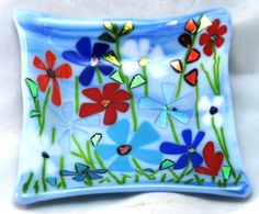 Fused Glass Dish by ShimmeringGlass