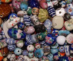 50 Porcelain Beads