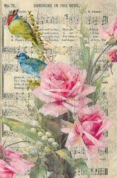 Decoupage Vintage, Decoupage Paper, Vintage Paper, Vintage Greeting Cards, Vintage Postcards, Vintage Images, 2 Clipart, Sheet Music Art, Music Sheets