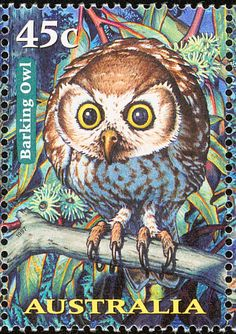 Barking Owl stamps - mainly images - gallery format