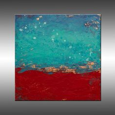 Large Original Canvas Painting Modern Wall Art   by HWinfield, $345.00