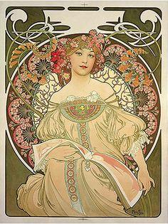 1897 Snění. Alphonse Mucha