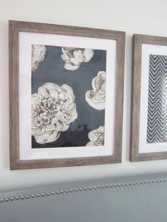 Pottery Barn Blue Textile Knock Off Wall Art - for a fraction of the PB price! #PotteryBarn
