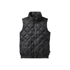 Women's Patagonia Prow Bomber Vest - Black Vests ($149) ❤ liked on Polyvore featuring outerwear, vests, black, patagonia vest, bomber vest, patagonia, faux-fur vests and vest waistcoat