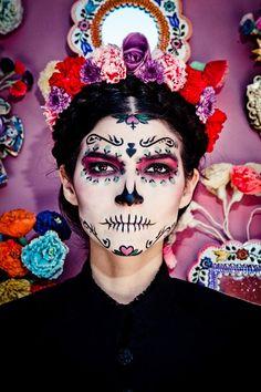 30 ideas fáciles de maquillaje de Halloween para mujer. Maquillaje calavera mexicana