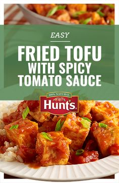 Who says tofu has to bland? Click for an easy Fried Tofu with Spicy Tomato sauce recipe.