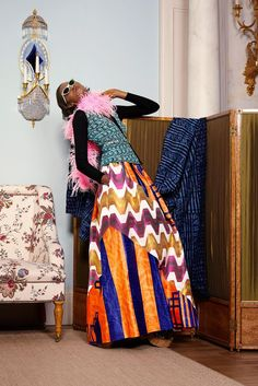 Duro Olowu Spring 2015 Ready-to-Wear - Collection - Gallery - Look 1 - Style.com mix and match Bazin and imprimé à inspiration ethnique plus le the and dye africain l'ethnic-chic à la londonienne