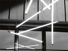 Fluorescent pendant lamp SHANGHAI SHANGHAI Collection by Martinelli Luce | design Angelo Micheli, Studio Lucchi & Biserni