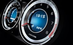 Volvo Gauges. Clear & Concise.