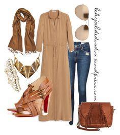 """hijab outfit"" by le-hijab-de-doudou ❤ liked on Polyvore featuring rag & bone, MANGO, Accessorize, Linda Farrow, PASHMINA ART and Ruby Rocks"