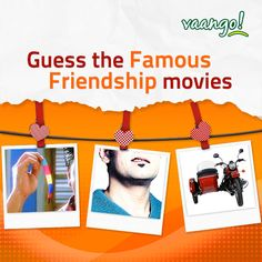 #BuddyBestContest: Friendship bands, goatee, side cart... Which #movies do these things signify? Don't forget to like, share and tag your friends! *T&C Apply www.vaango.in #Vaango #FriendshipDay #foodie #foodlovers #southindianfood
