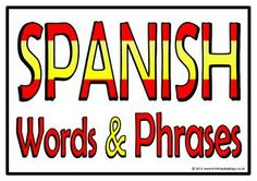 With a title poster, here is a set of 21 printable posters that show common words and phrases in Spanish. Words and phrases are displayed in speech bubbles as a symbol of the Spanish flag. Visit our TpT store for more information and for other classroom display resources by clicking on the provided links.