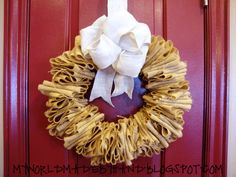 My World - Made By Hand: DIY Burlap Wreath Using a Wire Hanger {tutorial}