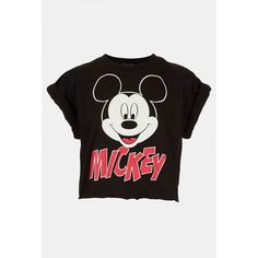 'mickey' Crop Tee ($32) ❤ liked on Polyvore