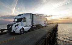 壁紙をダウンロードする ボルボSuperTruck, 4k, 2018年トラック, 道路, ワゴン, 橋, トラック, ボルボ
