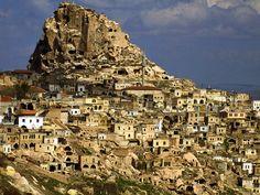 Ancient cave home in Derinkuyu Turkey