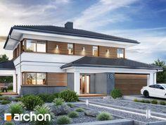 Projekt domu Willa Miranda 7 (G2) - ARCHON+ Facade House, Home Fashion, Modern Architecture, Mansions, House Styles, Building, Outdoor Decor, Home Decor, House Design