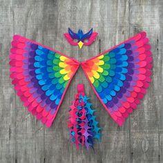 Pájaro mágico arco iris / Rainbow Phoenix alas la máscara de