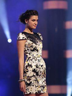 Fashion Star: Luciana's Black Print Structured Dress #FashionStar