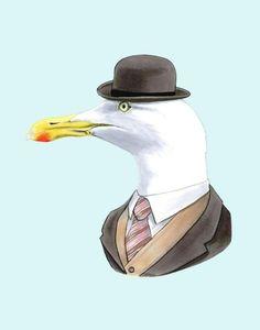 OBSESSED! Seagull print 11x14 by berkleyillustration on Etsy, $35.00
