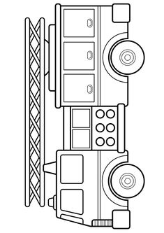 Firetruck coloring page Truck Coloring Pages, Colouring Pages, Coloring Sheets, Coloring Books, Firetruck Coloring Page, Preschool Crafts, Crafts For Kids, Drawing For Kids, Coloring Pages For Kids