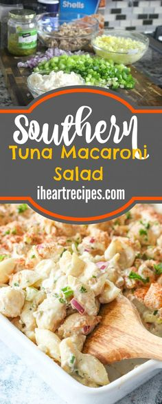 Southern Tuna Macaroni Salad Southern Tuna Macaroni Salad This Delicious Tuna Macaroni Salad Is The Perfect Dish For A Summer Potluck It S A Crowd Pleaser Southern Tuna Macaroni Salad I Heart Recipes Southern Macaroni Salad, Tuna Macaroni Salad, Tuna Pasta, Southern Tuna Salad Recipe, Healthy Foods To Make, Healthy Food List, Healthy Diet Recipes, Healthy Southern Recipes, Healthy Eating