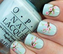 Inspiring image baby blue, beautiful, cherry blossom, girly things, love, nail art, nail polish, nails, opi, opi, pretty #2607624 by Lauralai - Resolution 500x500px - Find the image to your taste