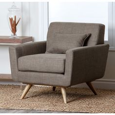 Shop for ABBYSON LIVING Bradley Khaki Tufted Fabric Armchair. Get free shipping…
