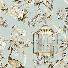 5004080 Oiseaux Et Fleurs Mineral by FSchumacher