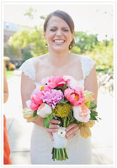 sweet anniversary gift idea - contact your wedding florist and get her wedding bouquet! Oh my god I would cry! Pink Bouquet, Bridesmaid Bouquet, Wedding Bouquets, Wedding Dresses, Boquet, Blush Pink Wedding Dress, Blush Pink Weddings, Floral Wedding, Coral Charm Peony