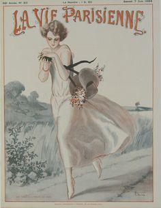 La Vie Parisienne - Une Poulette a trouvé des Oeufs - June 1924 – Rue Marcellin Vintage French Posters and Prints