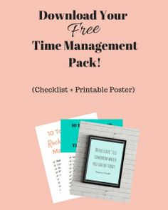Time management pack