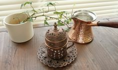 ハンドメイドのトルココーヒーセット