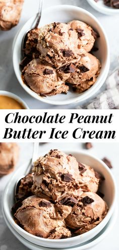 This paleo and vegan chocolate peanut butter ice cream is rich, creamy and super easy to make!   No-churn chocolate ice cream is swirled with a peanut butter layer (or other nut butter) and dark chocolate chunks.  It's family approved and irresistibly chocolatey! #paleo #vegan #veganicecream #icecream #chocolate Paleo Peanut Butter, Peanut Butter Ice Cream, Chocolate Peanut Butter, Paleo Ice Cream, Dairy Free Ice Cream, Ice Cream Recipes, Dairy Free Chocolate, Healthy Chocolate, No Churn Ice Cream