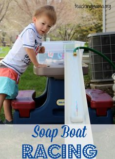 """Rain gutters are a great addition to your block corner for racing cars or your water table for """"soap boat"""" races!  Enjoy!"""