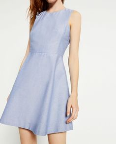 Image 4 of DRESS WITH FLOUNCE SKIRT from Zara