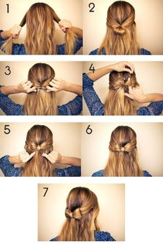 Little bow hair tutorial