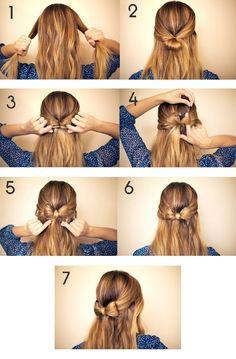 Little bow hair tutorial