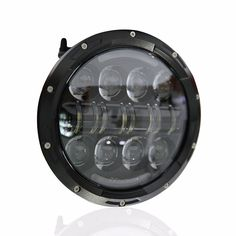 61.10$  Buy here - 1 Piece Round Black 80W LED Motorcycle Headlight  7inch Daymaker LED Headlamp with Amber Turn Signal Eye for harley Davidson  #buymethat